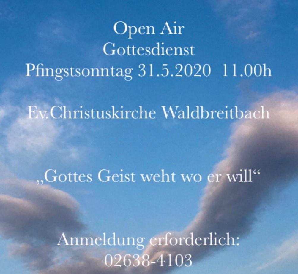 Open Air Gottesdienst Pfingstsonntag